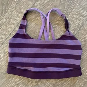 Lululemon sports bra purple size 6 athletic